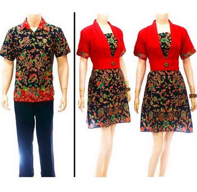 15 Desain Baju Batik Couple Model Terbaru