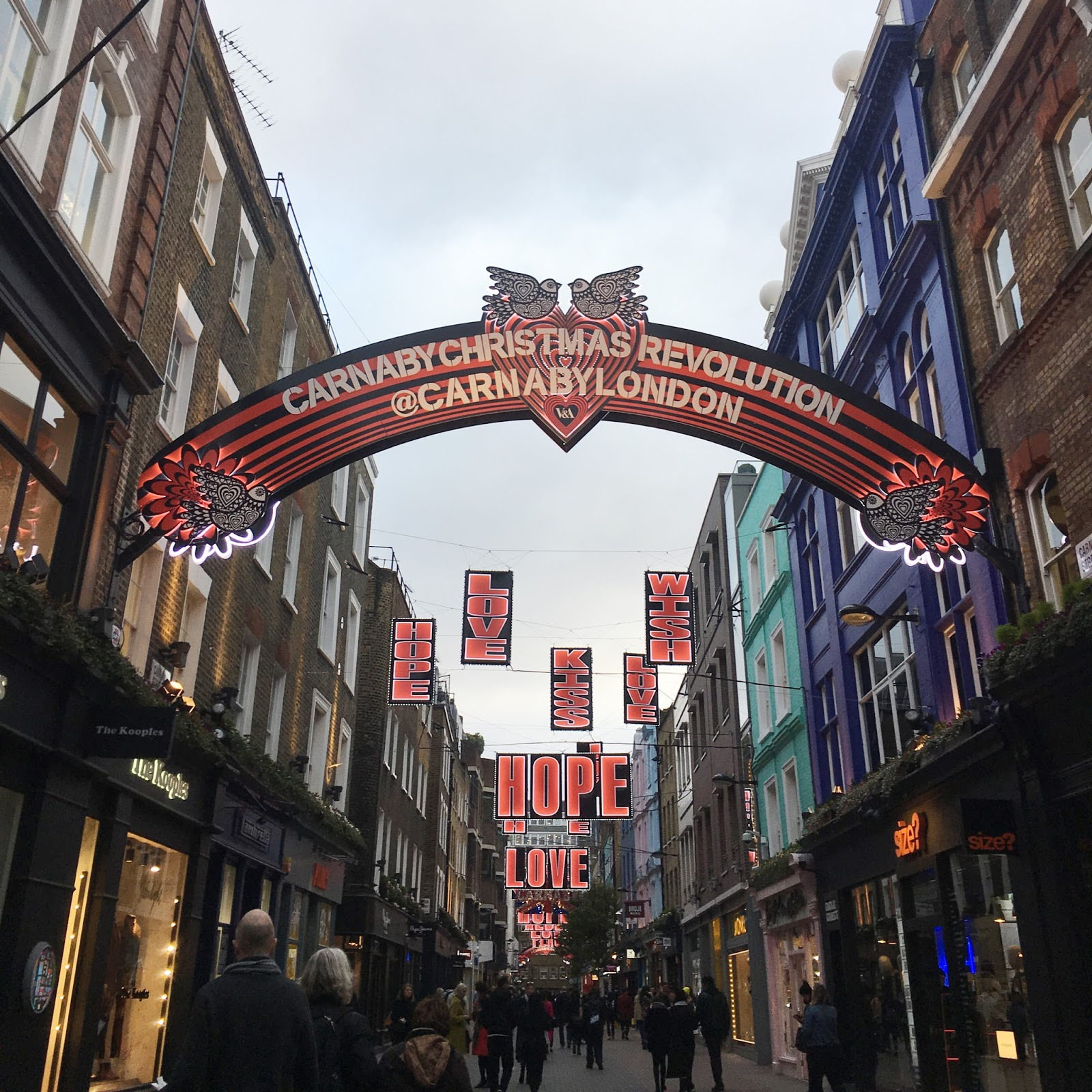Carnaby Street London Christmas 2016