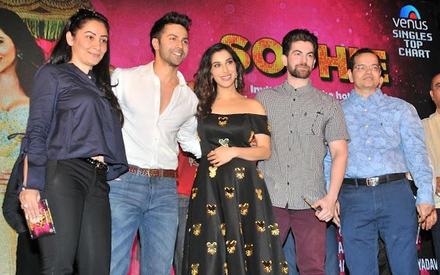 Manya Dutt, Varun Dhawan, Sophie Choudry, Neil Nitin Mukesh, and Champak Jain
