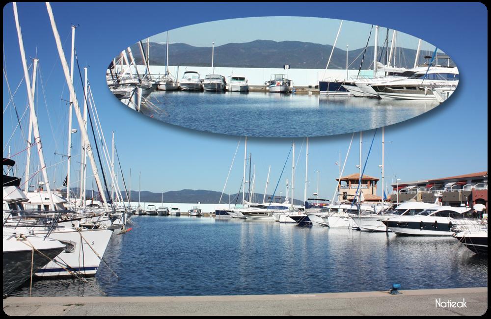 port de Santa Lucia mur trompe oeil de Saint-Raphaël