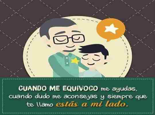 Feliz onomástico padre te quiero mucho