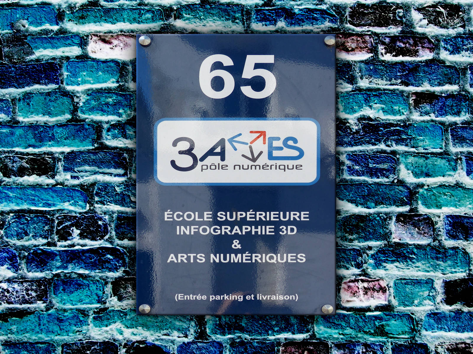 Plaque 3 axes Institut Tourcoing