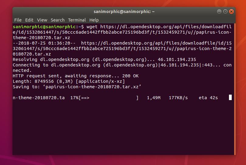 Papirus Icon Update to Version 2018 07, Install on Ubuntu