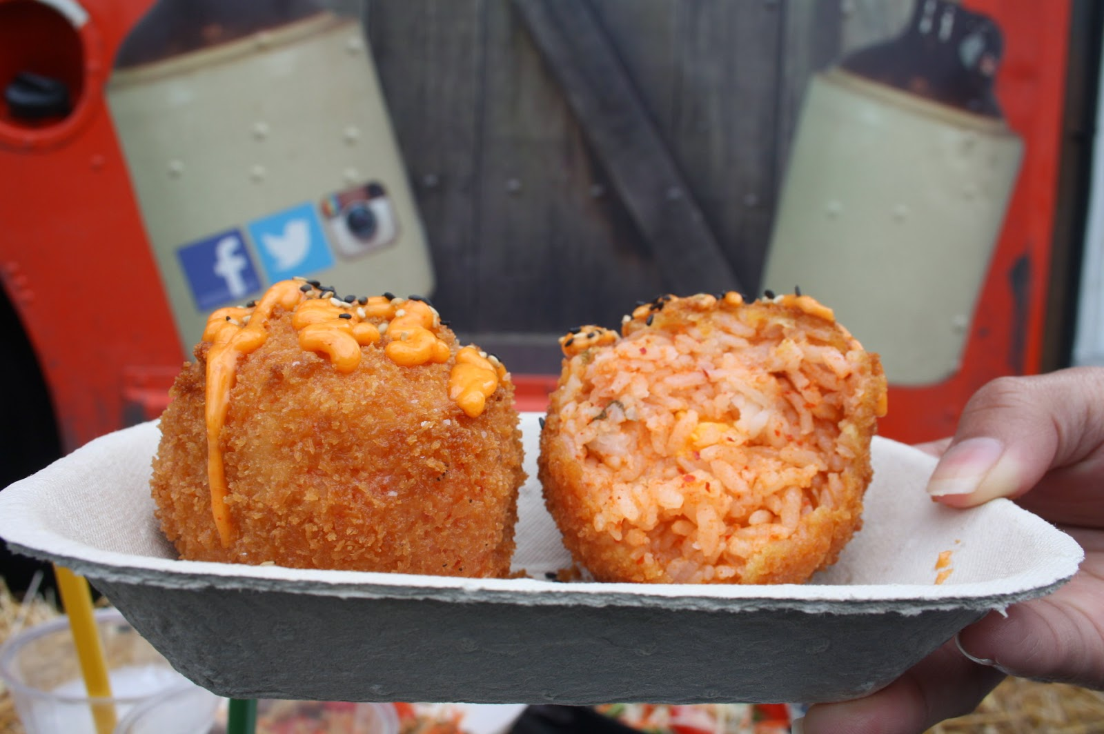 Kimchi Fried Rice Balls from Peller Food Truck Eats