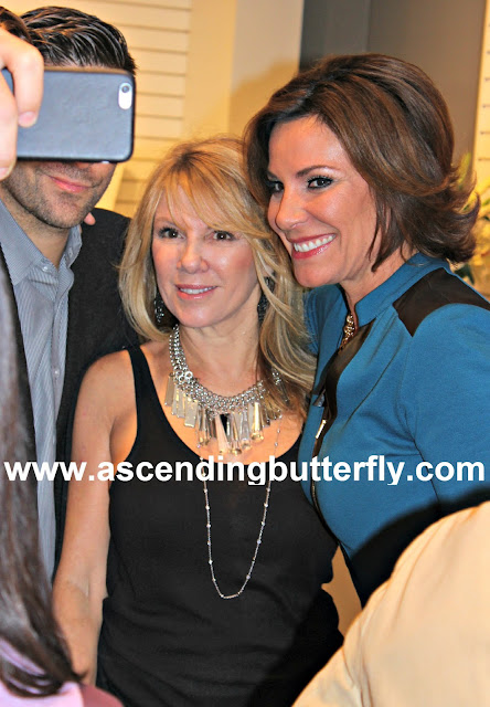 Countess LuAnn de Lesseps and Ramona Singer at the Press Preview of Countess LuAnn de Lesseps Countess Jewelry Collection in New York City Real Housewives of New York #RHONY