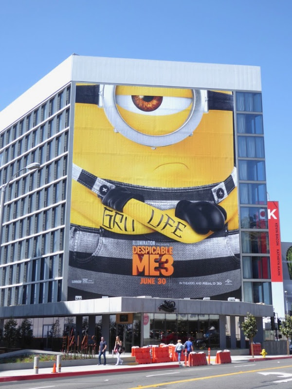 Giant Despicable Me 3 film billboard