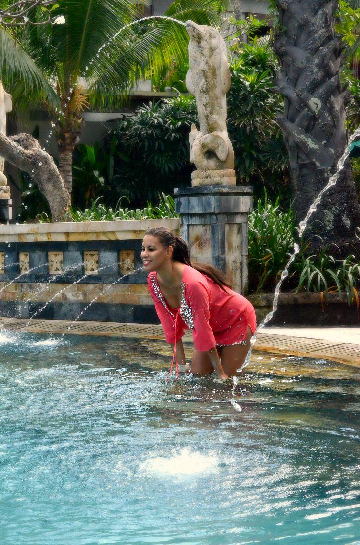 Jacky Luxury, Victoria's Secret Bikini, Myca Couture, Bali, Indonesia, Legian Beach hotel, beach outfit