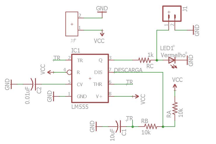 Circuito Oscilador : Oscilador pisca com circuito integrado fritzenlab