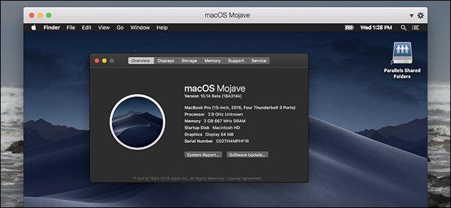 desktop del Mac