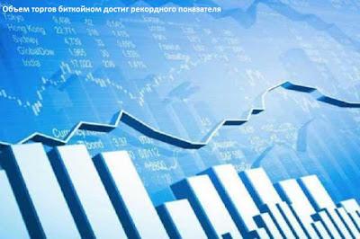 Объем торгов биткойном достиг рекордного показателя
