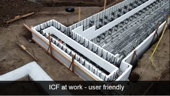 insulated concrete forms System Constuction ICF - FantasticEng