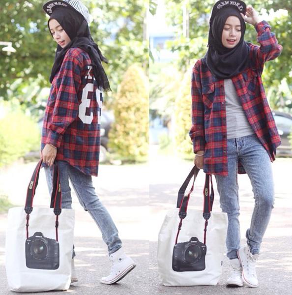 Ideas For Fashion Hijab Casual Kemeja   OOTD Hijabers