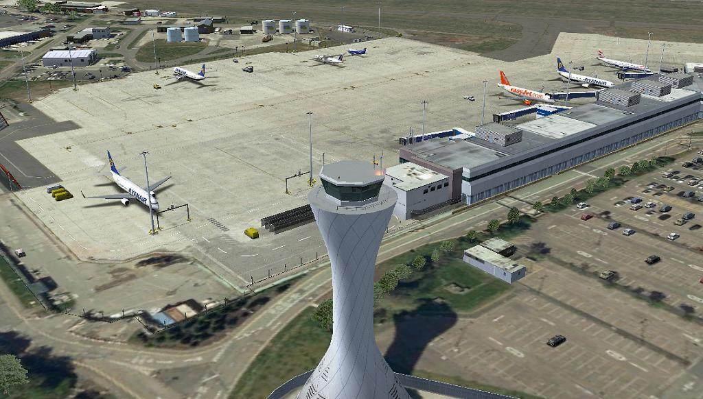 UK2000 - Edinburgh Airport [FSX/FSX:SE/P3Dv3/P3Dv4] - Master Addons