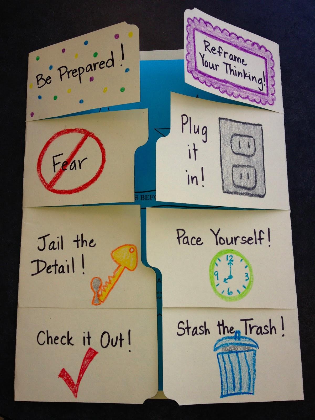 Ms Sepp S Counselor Corner Testing Tips Foldable