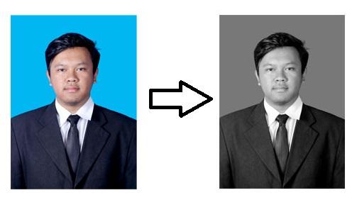 Cara Membuat Pas Foto Hitam Putih di Photoshop