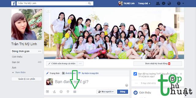 Tính năng hẹn giờ đăng status trên Facebook