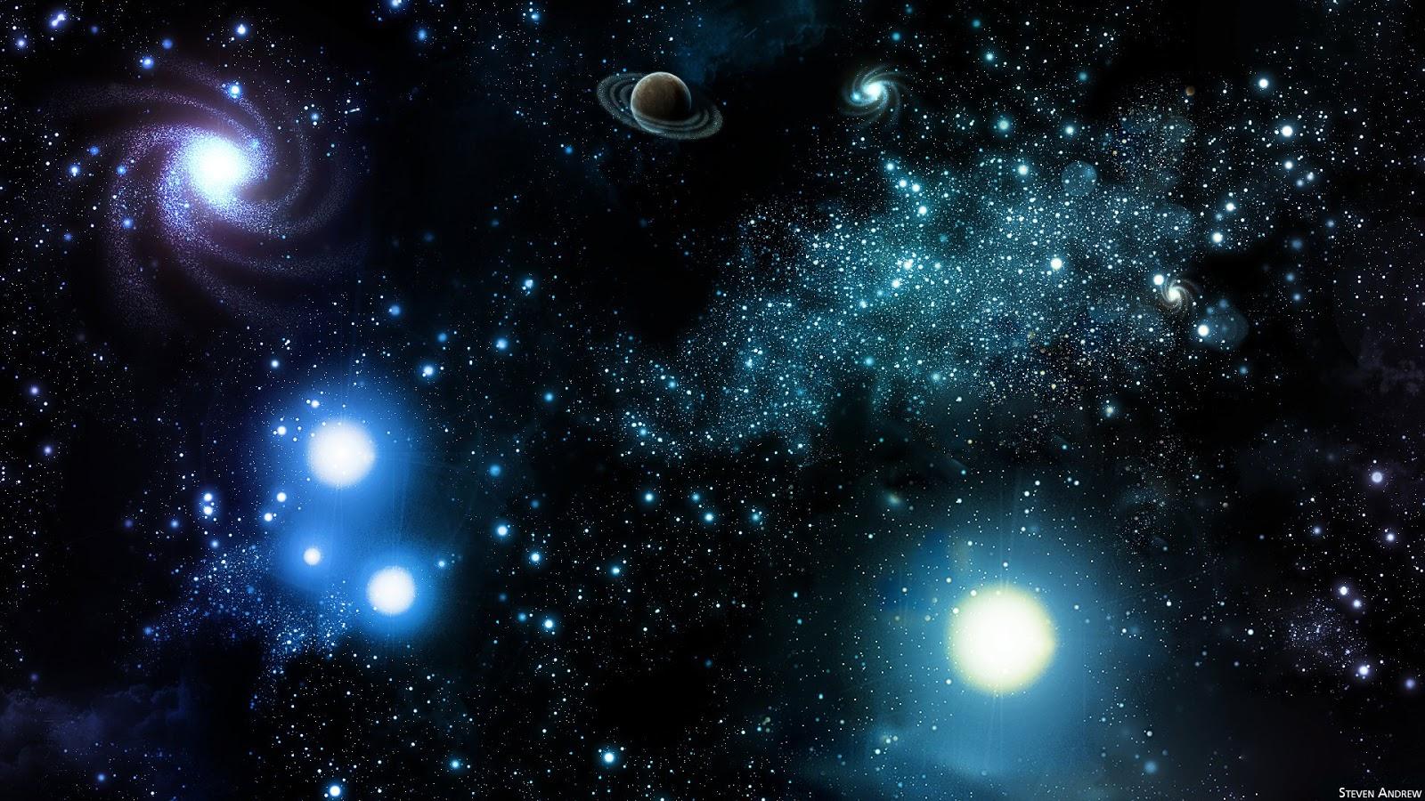 輝きが美しい宇宙の画像