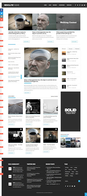 Resolute elegant  Wordpress magazine News blog theme