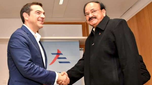 Vice President Naidu meets Prime Ministers of Greece Portugal