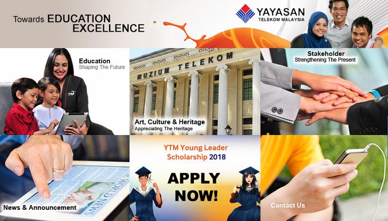 Borang permohonan Biasiswa Yayasan Telekom Malaysia (YTM) online