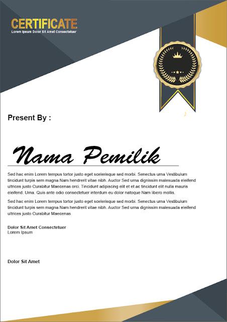 Tutorial Desain Sertifikat Terbaik Free Download Template  10 Tutorial Desain Sertifikat Terbaik Free Download Template