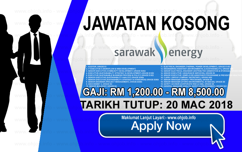 Jawatan Kerja Kosong Sarawak Energy logo www.ohjob.info mac 2018