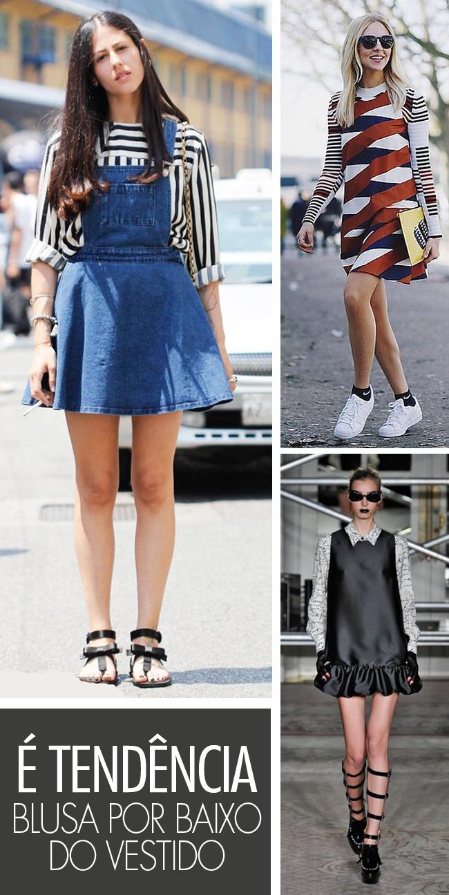 ed694ec040e Blog Princesas Modernas  É tendência  blusa por baixo do vestido!