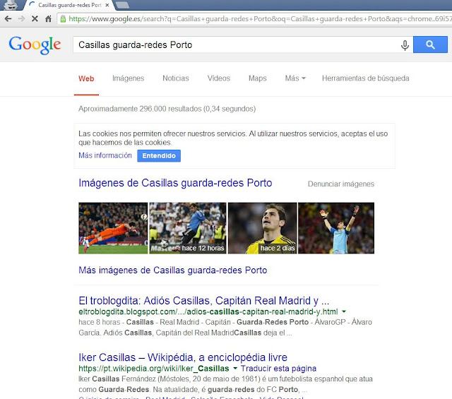 Casillas guarda-redes Porto - nº1 en SEO - Google - ÁlvaroGP - Social Media & SEO Strategist