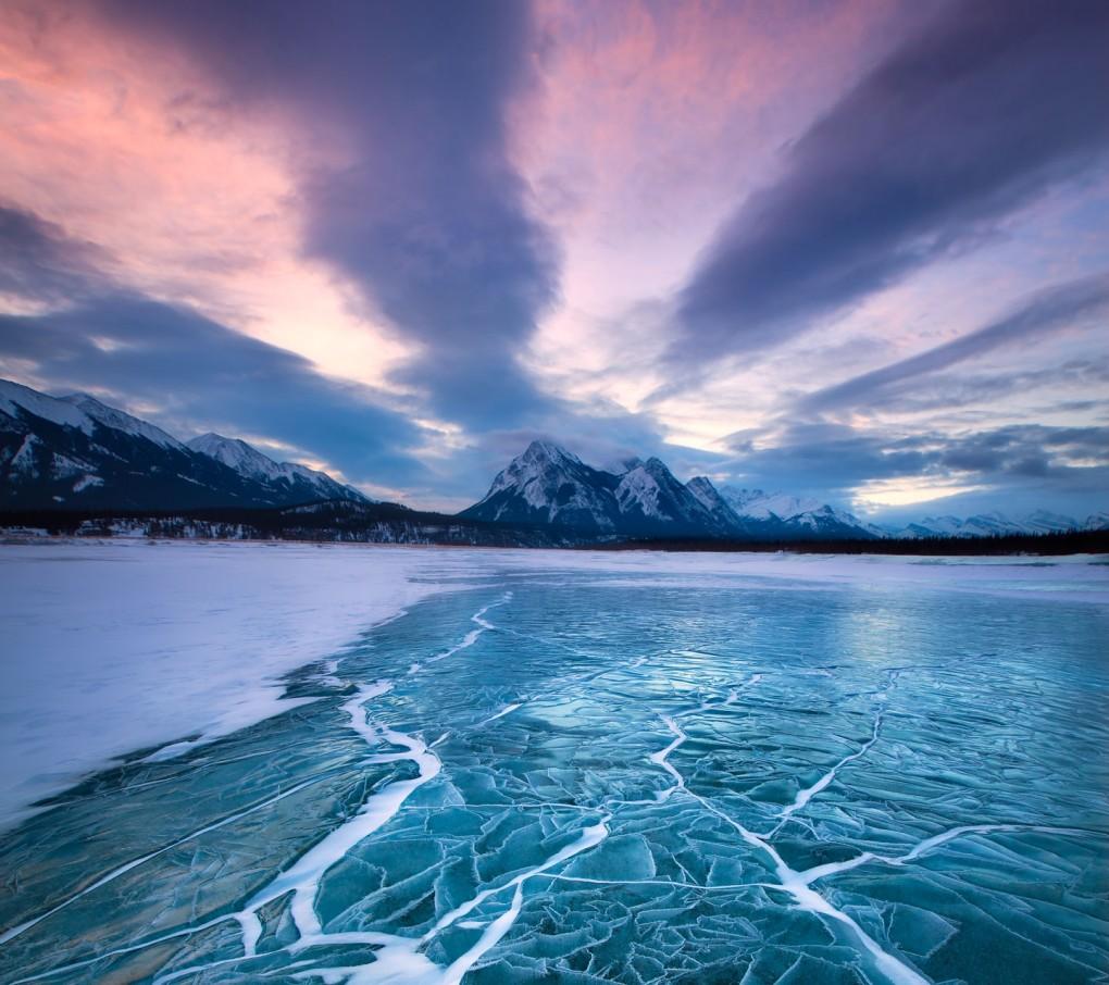 Spring Iphone 6 Wallpaper Abraham Lake Alberta Canada