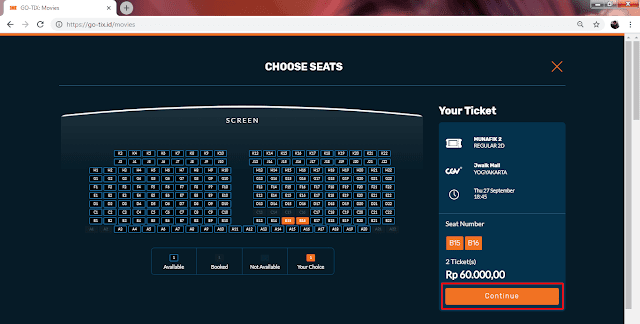 memilih kursi penonton