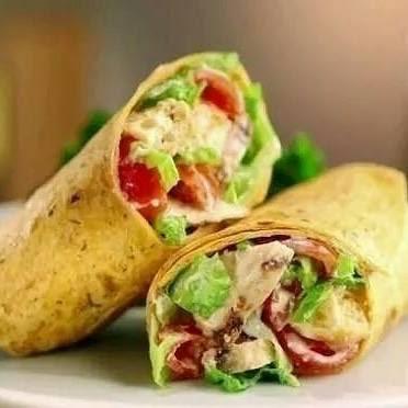 Resepi Sihat...Tortilla Wrap Ayam Panggang