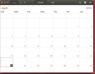 Ubuntu16.04 LTS New Calendar App