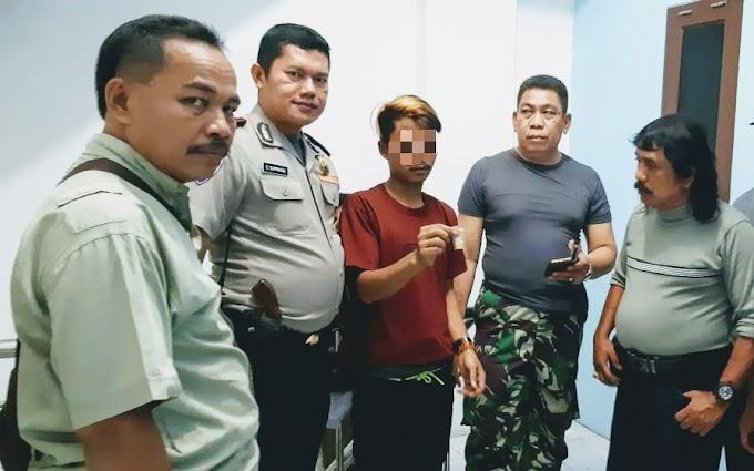 Bawa Eximer, Pemuda Diamankan Bhabinkantibmas Kelurahan Angke Tambora