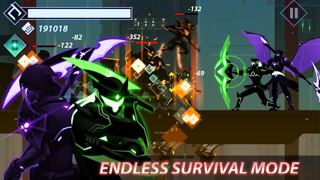 تحميل لعبة overdrive Ninja Shadow مهكرة للاندرويد