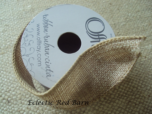 Eclectic Red Barn: Wired Burlap Ribbon