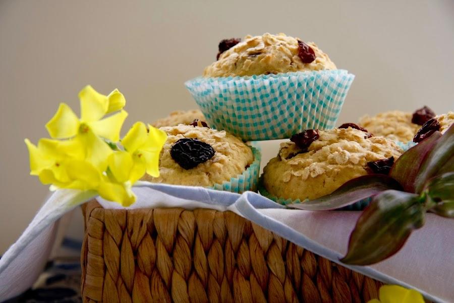 Muffins de pasas y avena