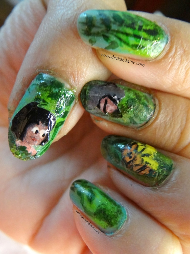 Jungle book inspired nail art- Step by Step Tutorial - Deck and Dine