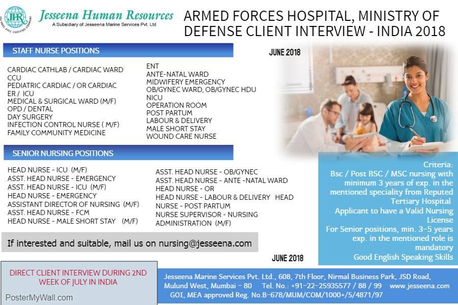 Armed Forces Hospital Saudi MOH Staff Nurse Vacancy 2018 ~ WORLD4NURSES