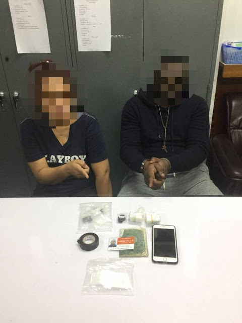 Nigerian man and his Thai wife arrested for cocaine peddling in Bangkok