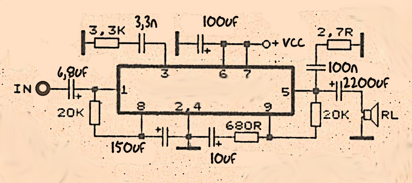 Circuit Diagram Of 100 Watts Power Amplifier Amplifiercircuit Seekiccom 60 Watt With Tda1512