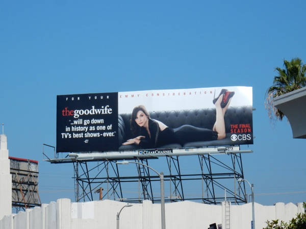 Good Wife final season Emmy consideration billboard