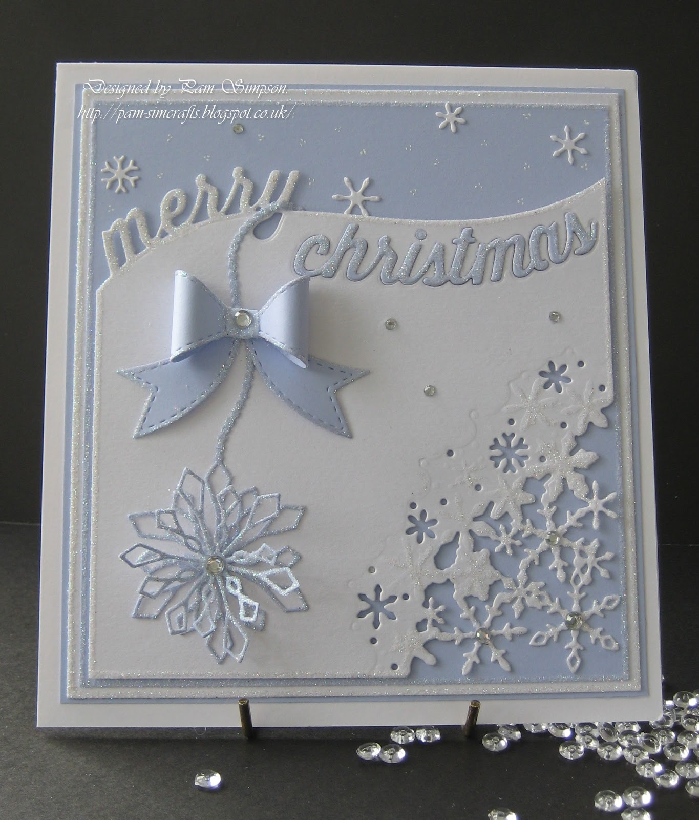 Pamscrafts: Curved Merry Christmas