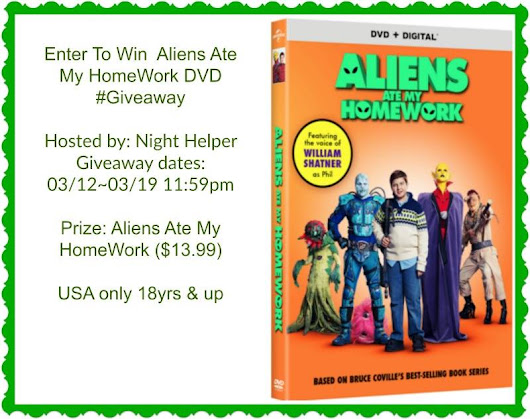 Aliens Ate My Homework Giveaway - ends 3/19!