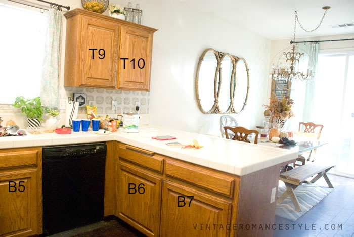 How To Perfectly Paint Kitchen Cabinets The Easy Way Vintage Romance Style