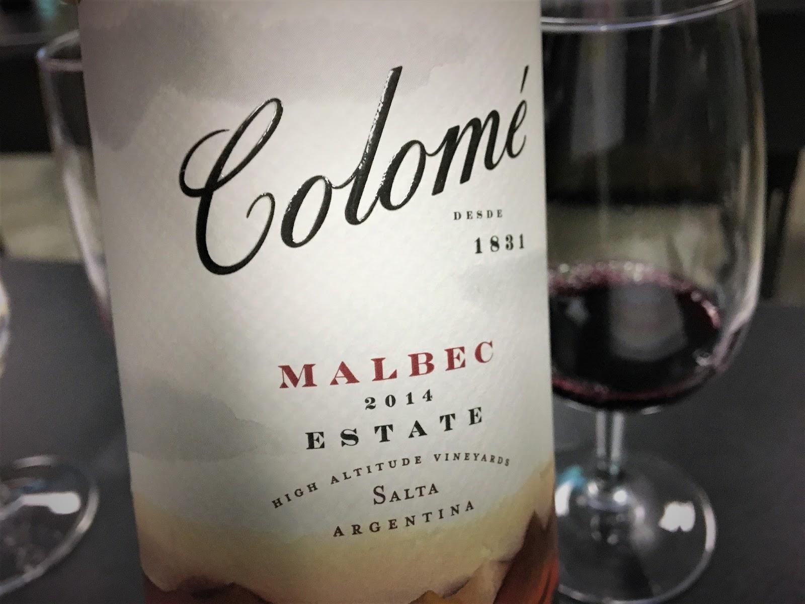 Wine of the Week: 2014 Bodega Colome Estate Malbec, Salta HAV