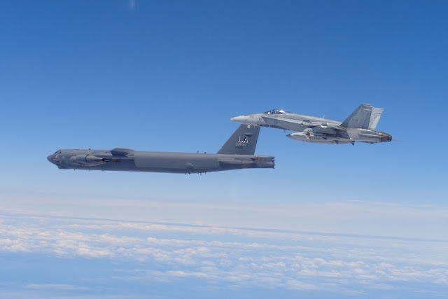 CANADIAN CF-18 INTERCEPTS USAF B-52