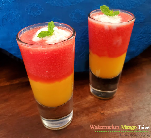 images of Watermelon Mango Juice / Watermelon Mango Mocktail – Refreshing Summer Drink