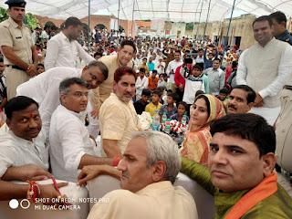 रक्षाबंधन पर मेवात में 300 मुस्लिम महिलाओं ने भाजपा प्रदेश अध्यक्ष सुभाष बराला को बांधी रखी