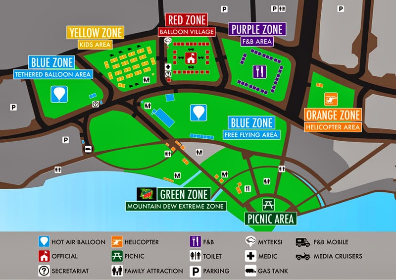 Putrajaya Hot Air Balloon Fiesta Map Layout