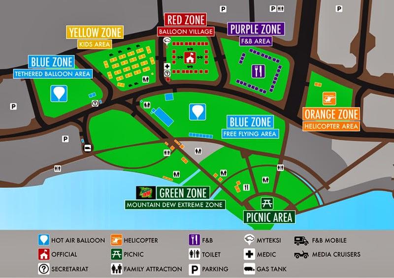 Putrajaya Hot Air Balloon Fiesta Map Layout